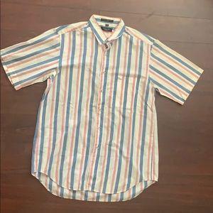 Christian Dior button up short sleeve shirt size L